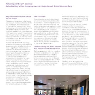 Retailing in the 21st Century – Refurbishing a live shopping centre