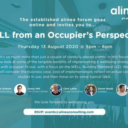 WELL from an Occupier's Perspective: Thursday 13 August 2020